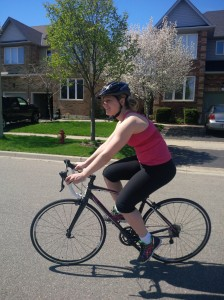 Sara on Bike