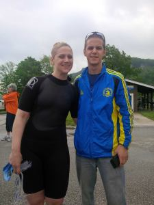 Sara and Matt Wet Suit