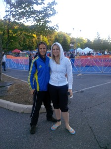 Matt and I pre-race!!