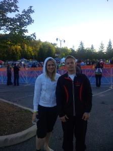 Neil and I pre-race