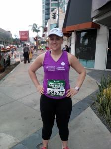 Sara pre-race